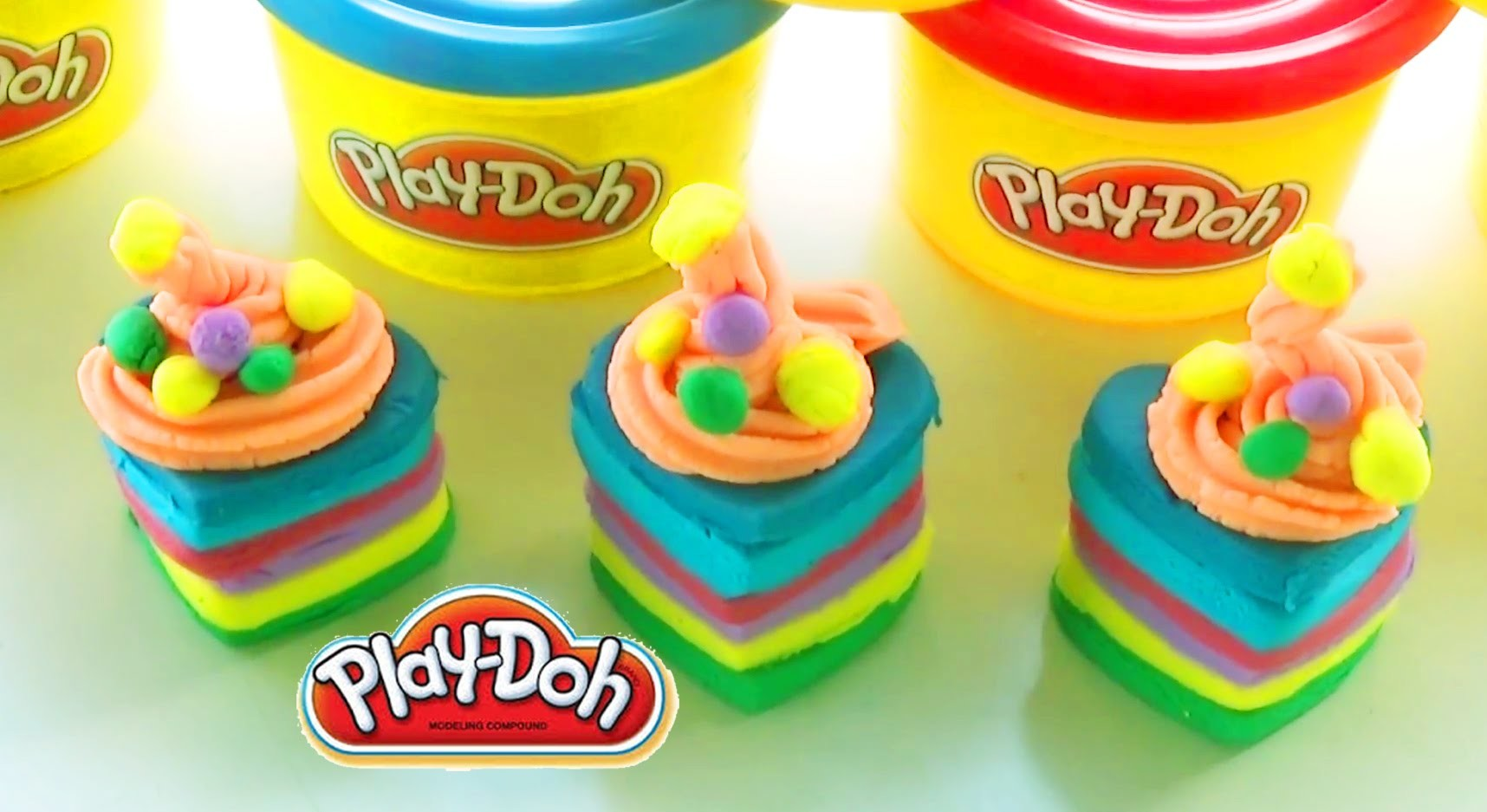 Play Doh Rainbow Jellies rainbow colors play set rainbow cookies creations