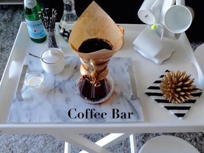 Setting Up A Coffee Bar | Safavieh Belvedere Tray Table