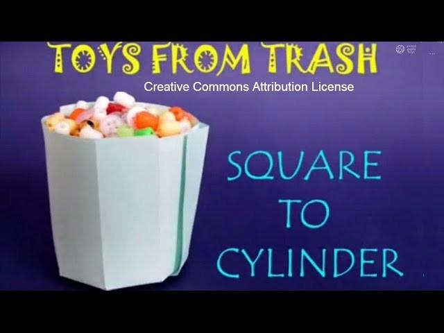 Square to Cylinder | Bhojpuri | Amazing Origami