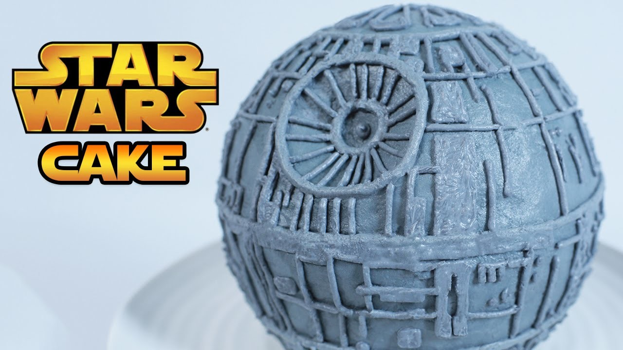 STAR WARS DEATH STAR CAKE - NERDY NUMMIES