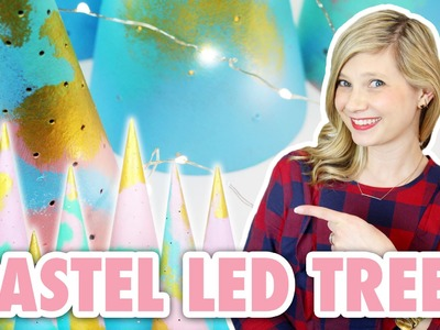The Prettiest Pastel LED Trees Ever