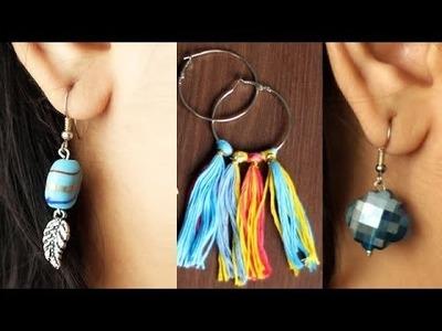 3 Quick Handmade Earrings