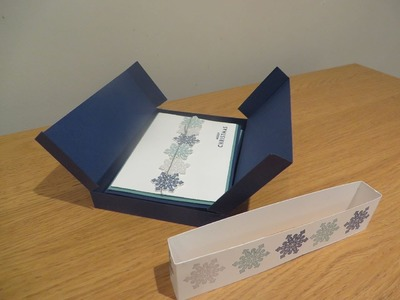Card Gift Set Box Tutorial, Handmade Box Tutorial using Flurry of Wishes from Stampin' Up
