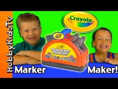 Crayola Make a Marker! Homemade Marker Kit + DIY Artwork by HobbyKidsTV