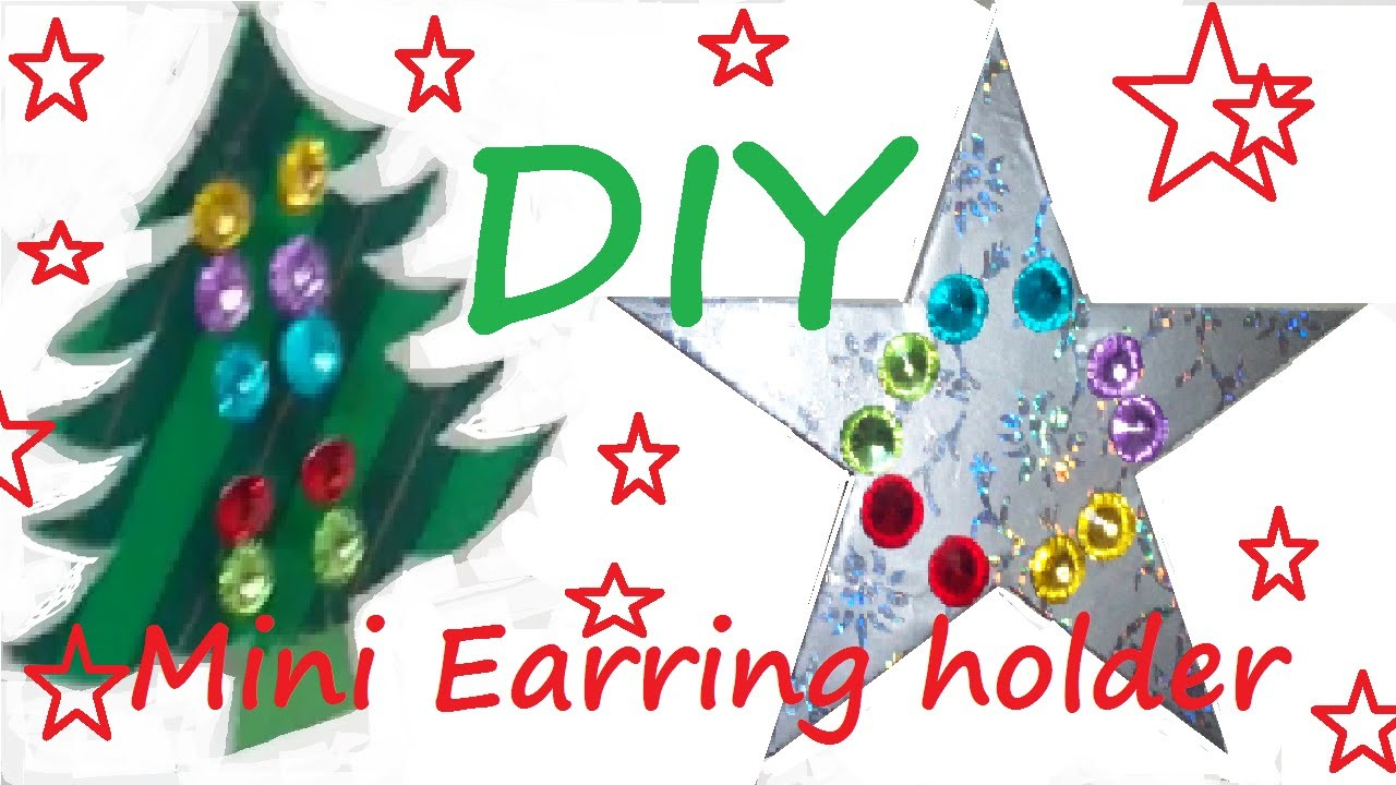 ❄ DIY Mini Earring Holder GIFT IDEA ❄ Holiday 10