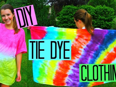 DIY Tie Dye Clothing | Watermelon Cover-up, Beach Towel & Hat