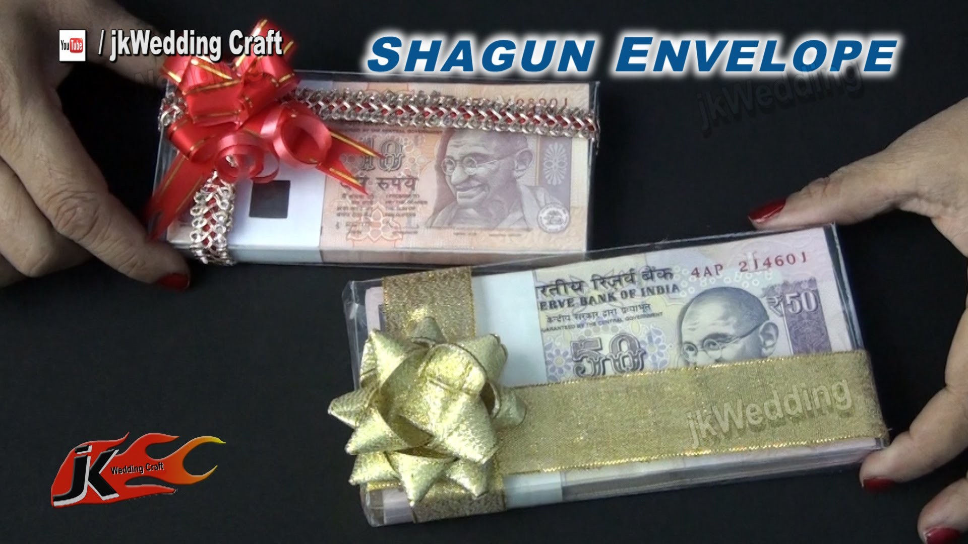 DIY Transparent Shagun envelope for gifting in wedding, baby shower | JKWeddingCraft 052