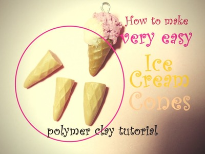 DIY Waffle-Cone of Ice Cream Cone (Easy and Quick!) ~ Cialda del Cono Gelato (Polymer Clay Tutorial)