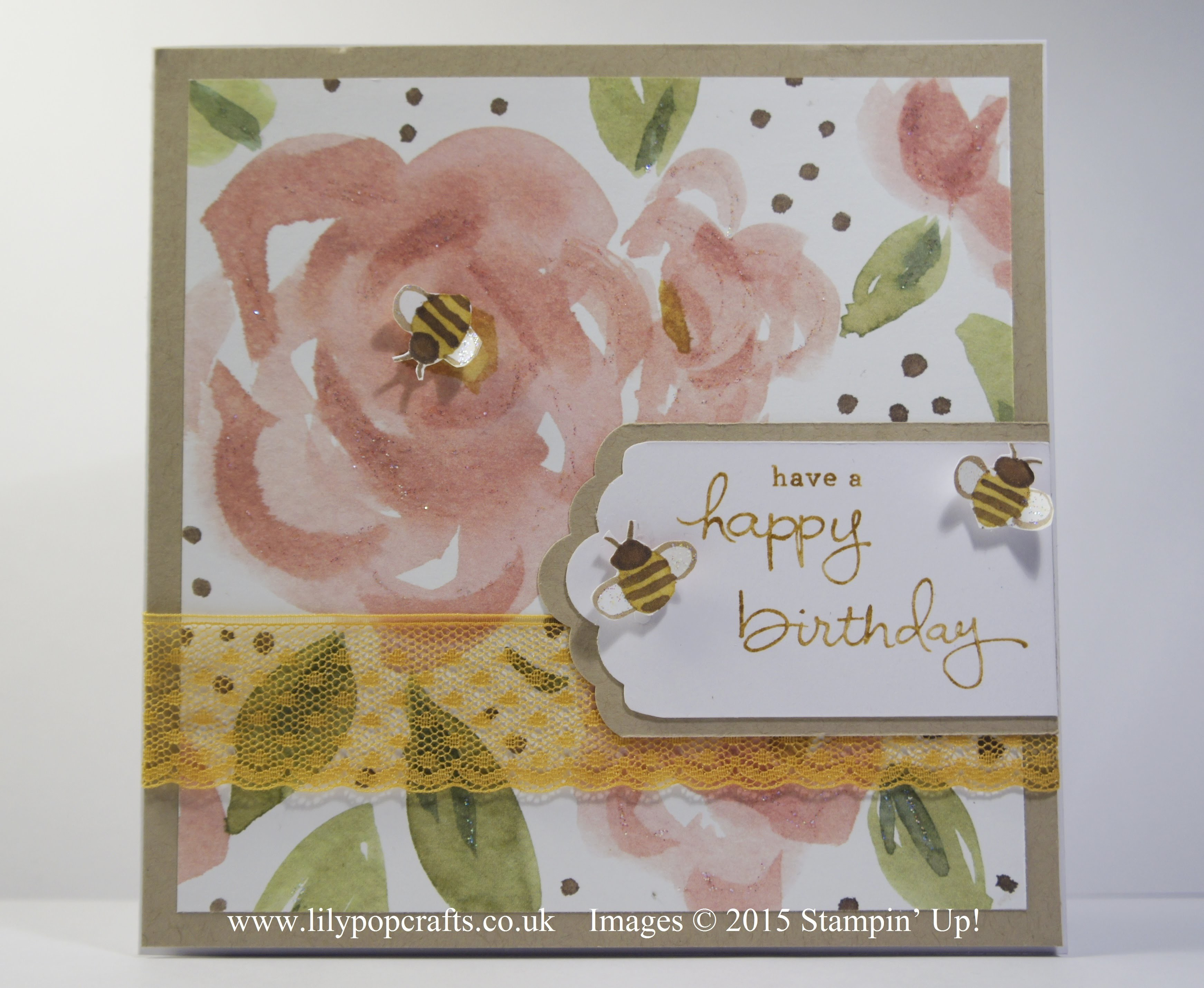 Handmade Birthday Card using English Garden & Endless Birthday Wishes by Stampin' Up!