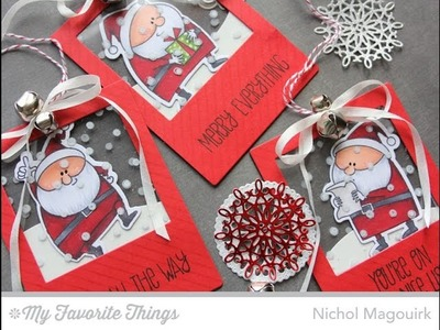 HANDMADE HOLIDAY 2014 | MFT SANTA SEE THRU TAGS