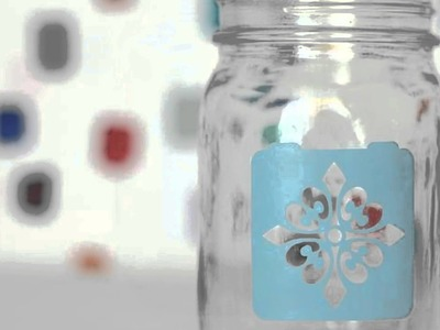 Handmade Holiday: Etching Mason Jars