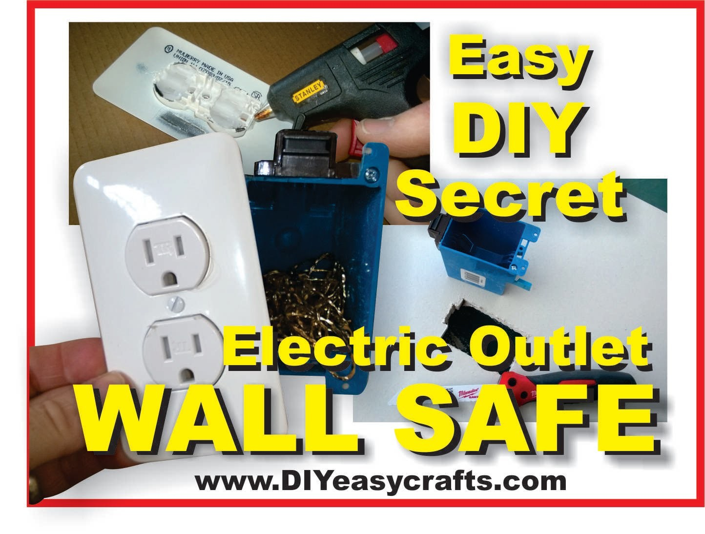 How to make a Easy DIY Secret Hidden Electric Outlet Wall Safe