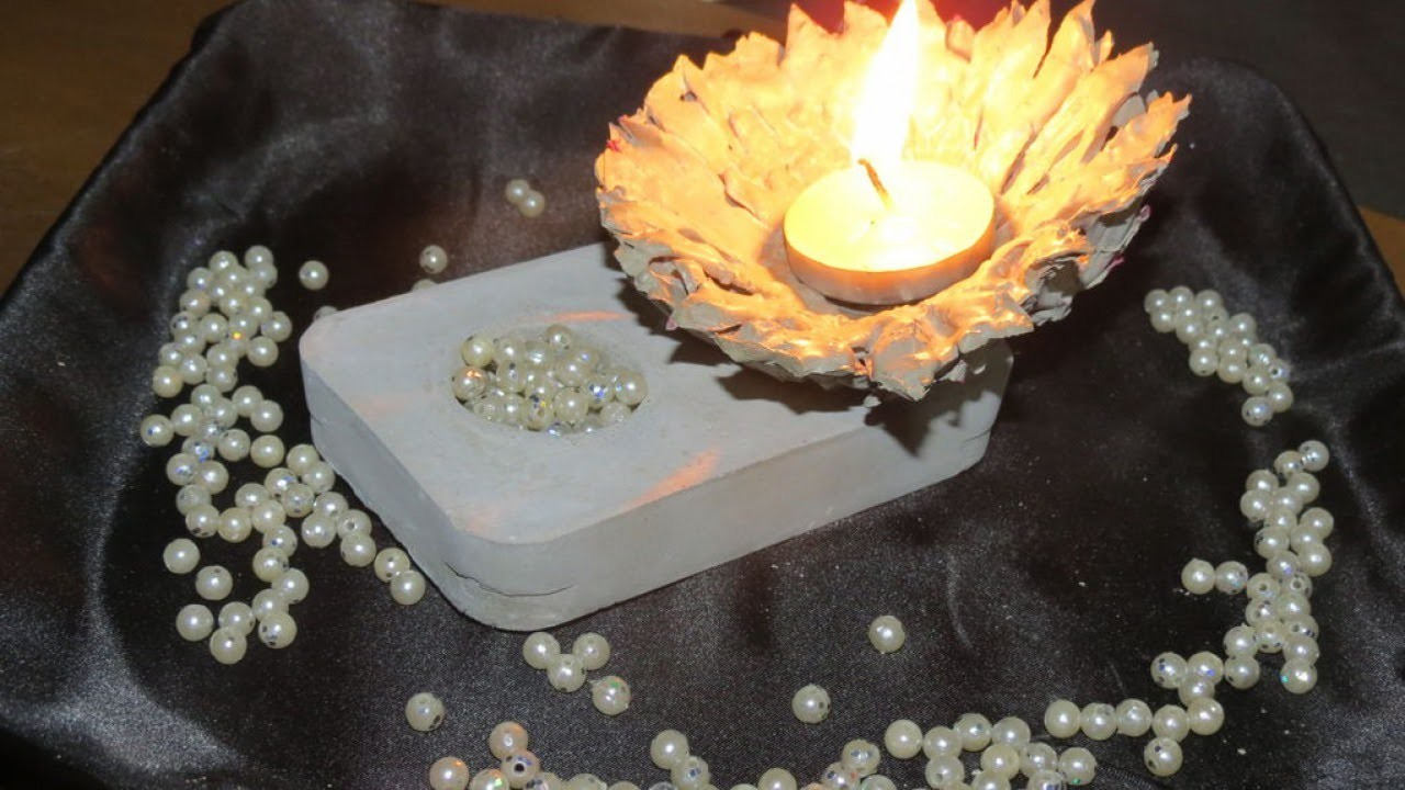 Make a Concrete Flower Candle Holder - DIY Home - Guidecentral