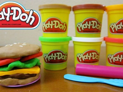 Play-Doh Hamburger | Fun & Easy Play Doh How To DIY!