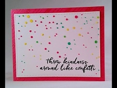 Share Handmade Kindness- Confetti Card