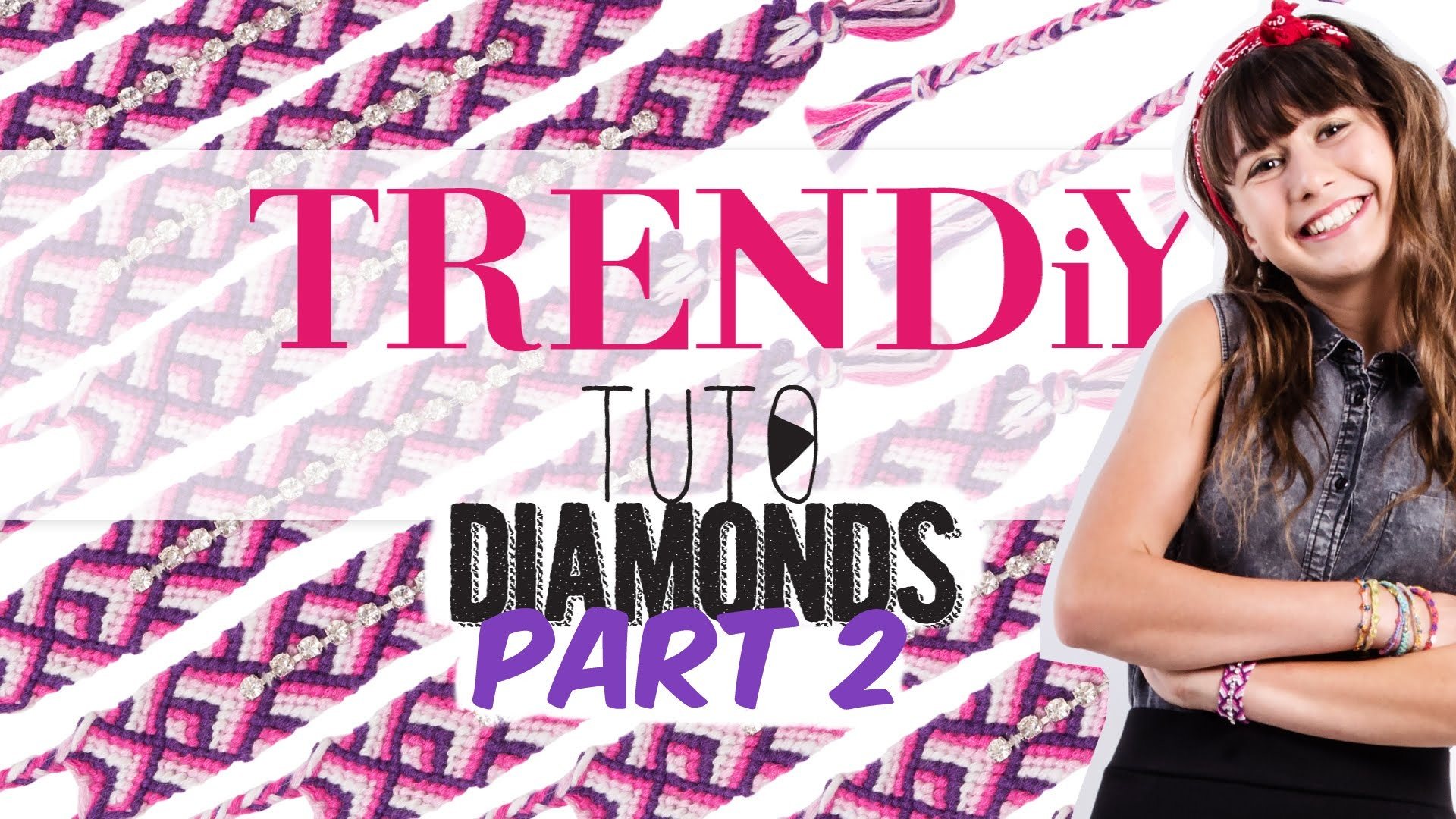 TUTO DIY TRENDIY ART - Friendship Diamond Bracelets  Part 2
