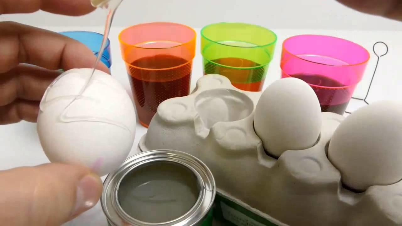 Coloring Easter ✔Eggs with Rubber Cement   DIY