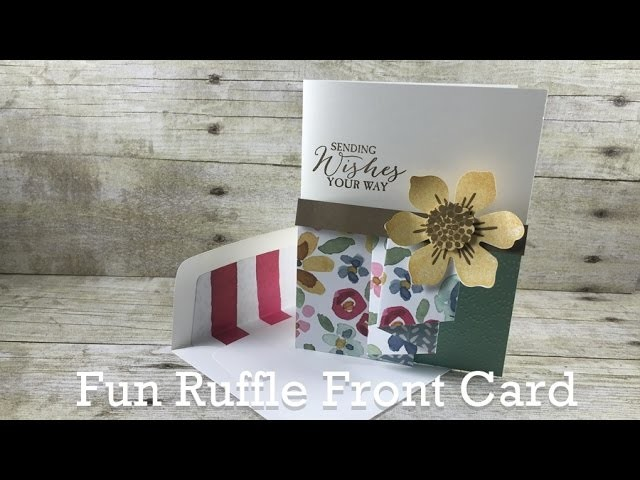 Create a Fun Ruffle on Your Handmade Card