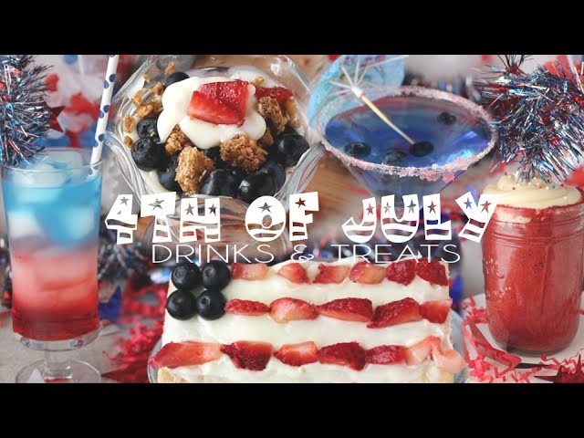 DIY 4th of July Drinks & Treats