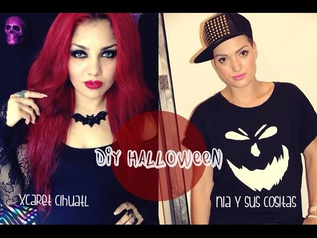 DIY-BAT NECKLACE COLABORACION (RECICLANDOADORNOS DE HALLOWEEN)