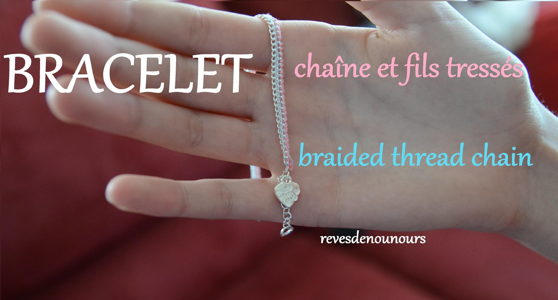 ✄ DIY: Bracelet Chaîne Tressée ✿ Braided Chain Bracelet ✿[Julie]