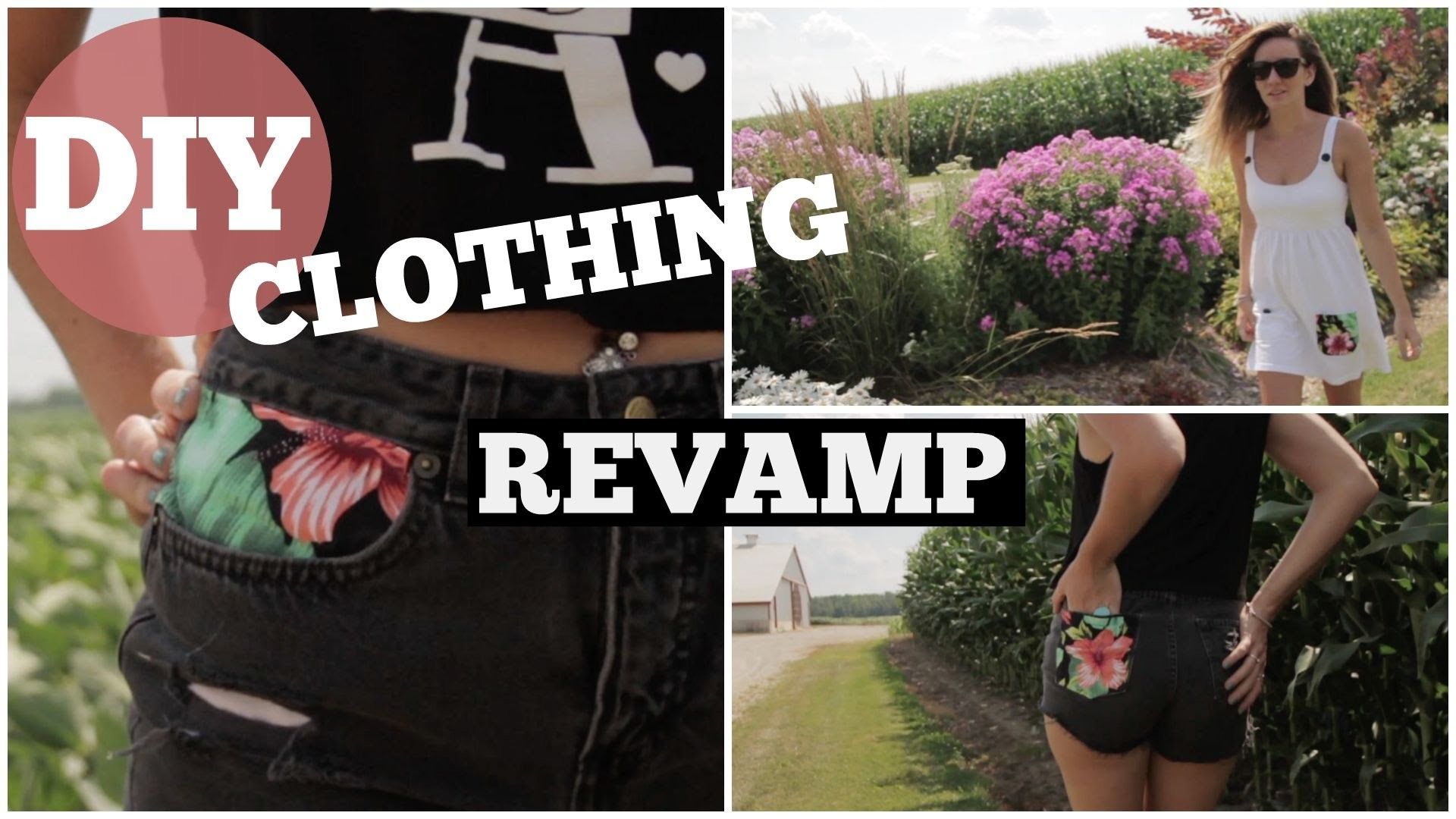 DIY Clothing - Revamp.Refashion Old Clothes - NO sew!