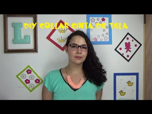 DIY collar de cinta. ribbon necklace