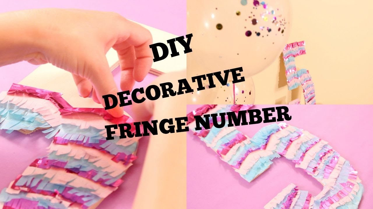 DIY Decorative Fringe Number