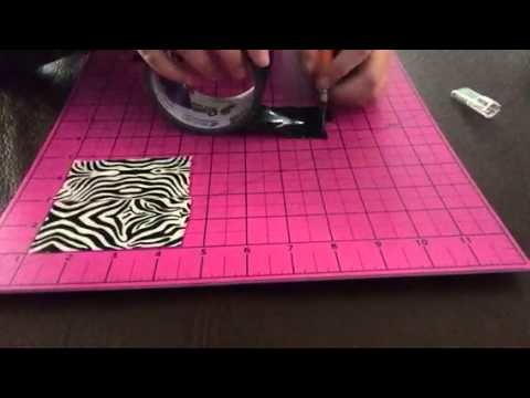 DIY duct tape tissue box part 1