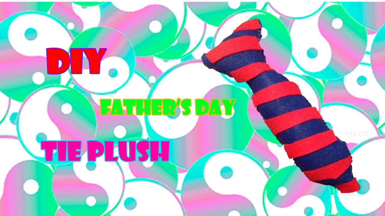 Diy Father's Day Tie plush