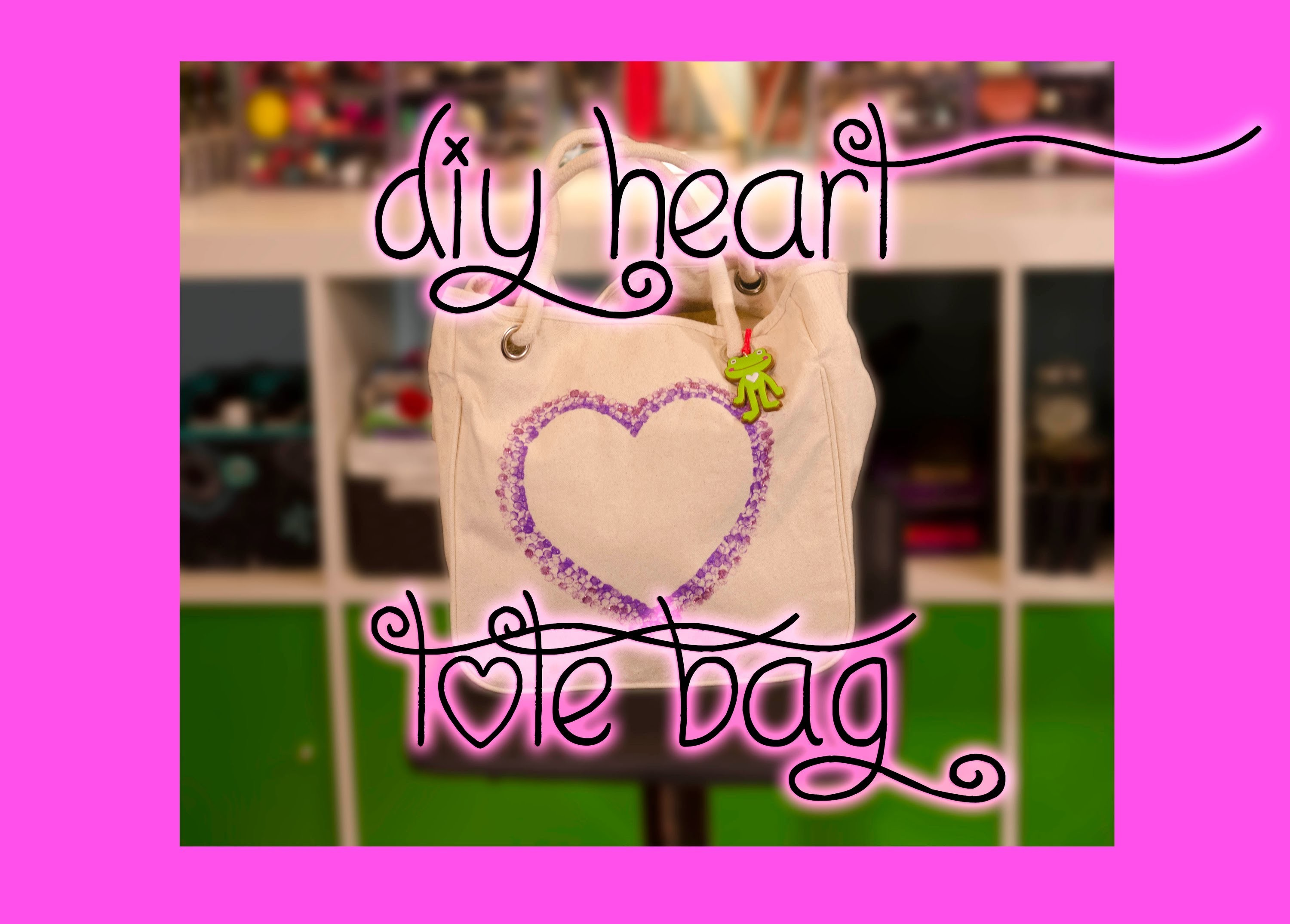DIY Heart Canvas Tote