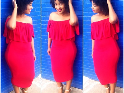 DIY: Off the Shoulder Crop Top and Pencil Skirt
