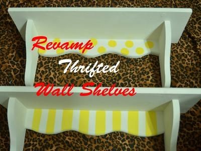 DIY: Revamp Thrifted Furniture (Wall Shelves.Bookshelves)
