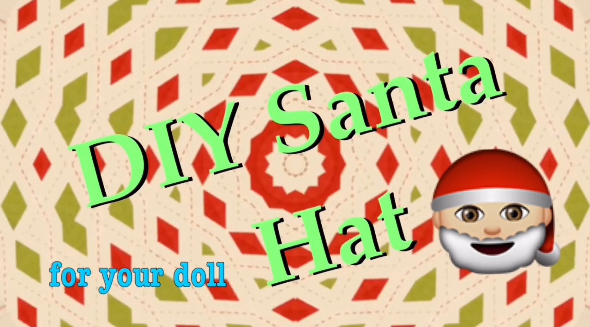 DIY Santa Hat For Your American Girl Doll