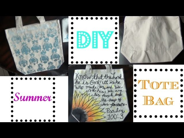 DIY | Summer Tote Bag | Adriana Trosper