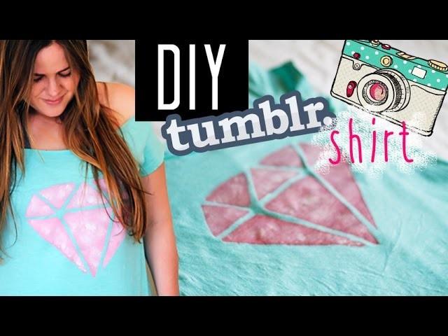 DIY Upcycling Tumblr Shirt for Spring (Tumblr Inspired) - DIY Camiseta (Faça Vc Mesmo)