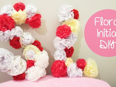 Flower Letters - Room Decoration and Gift Idea | Sunny DIY