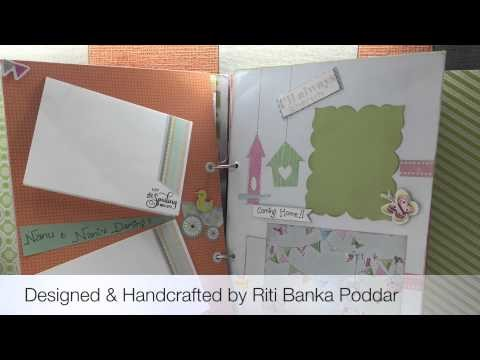 Handmade Baby Girl Record Book