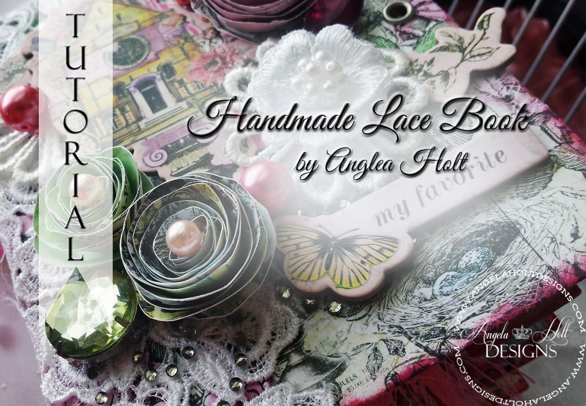 Handmade Book that holds Lace Tutorial FOR SALE