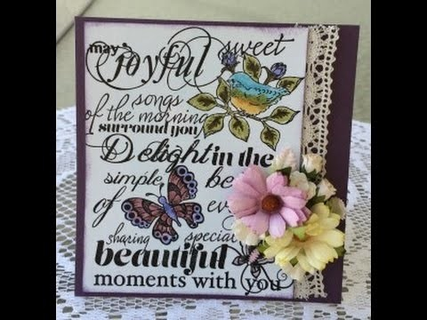 Handmade Card using Heartfelt Creations Birds and Blooms