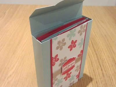 Handmade Cards Flowering Gift Box - Stampin' Up UK