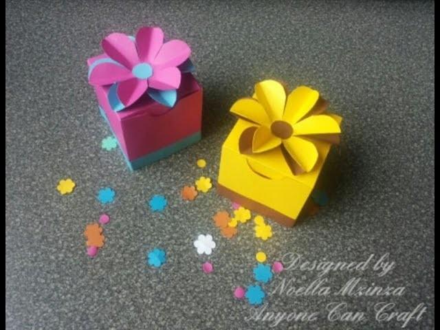 Handmade Cube Favour Box