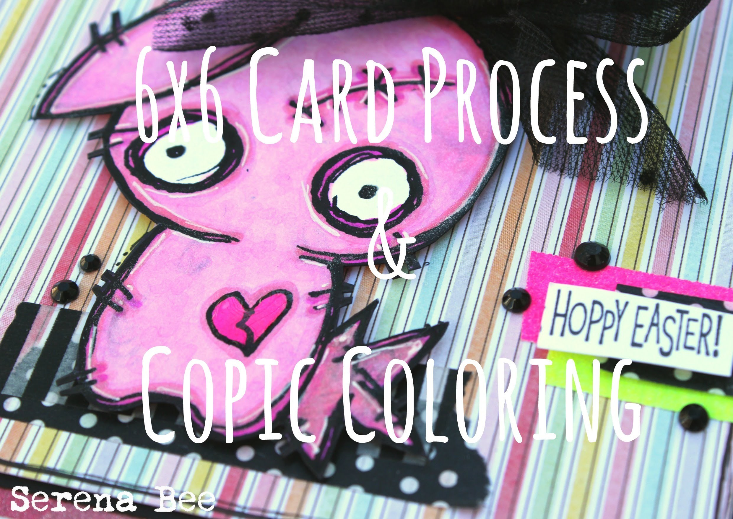 Handmade Easter Card & Copic Coloring Tutorial [Oddball Stamps Design Team, Challenge 2]