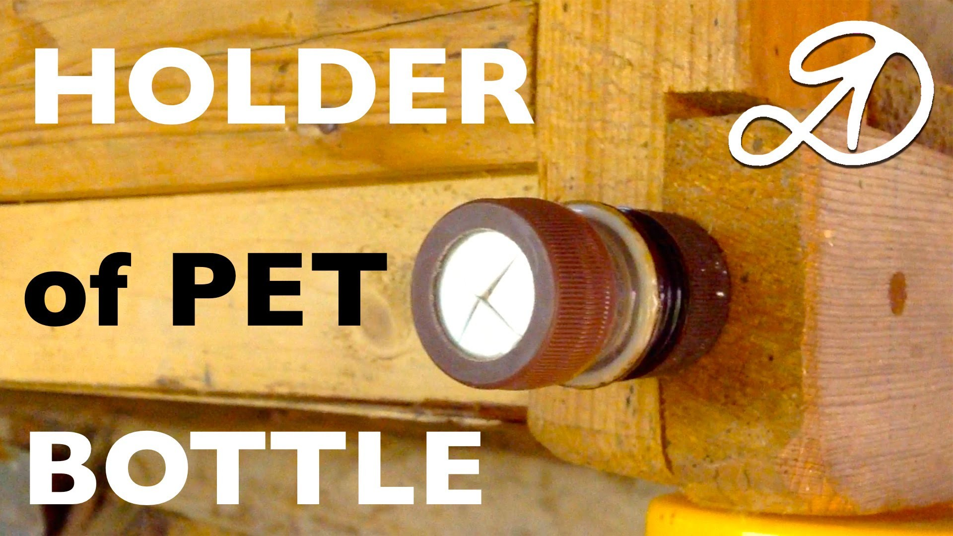 Membrane holder of PET bottle own hands. DIY holder. Use of plastic bottles