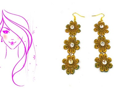 MORENA DIY: HOW TO MAKE LACE EARRINGS
