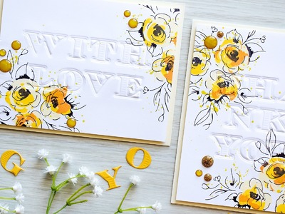 Simple Embossed Sentiments for Handmade Cards