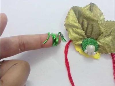Simple Handmade Rakhi Making Idea At Home