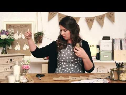 The Handmade Wedding: Burlap bunting