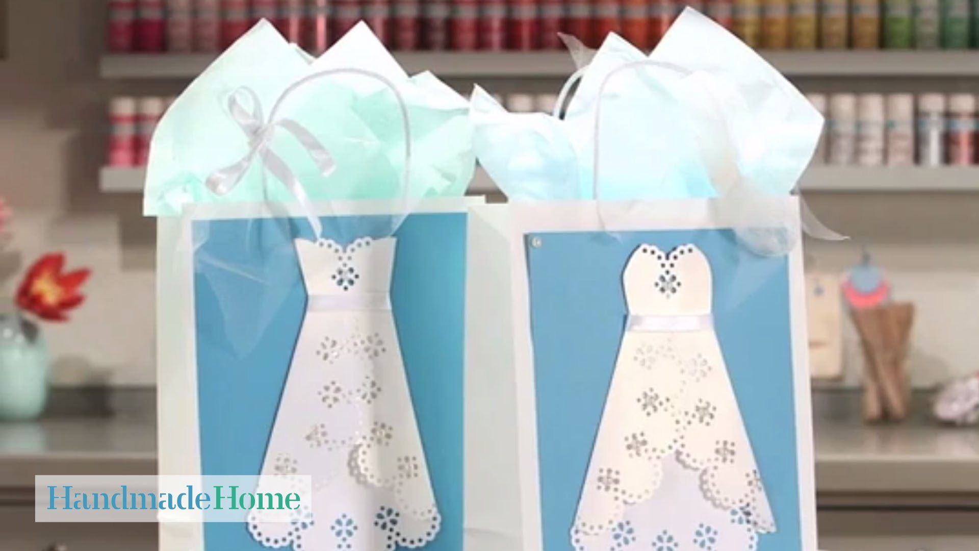 Wedding Dress Gift Bags - Handmade Home - Martha Stewart