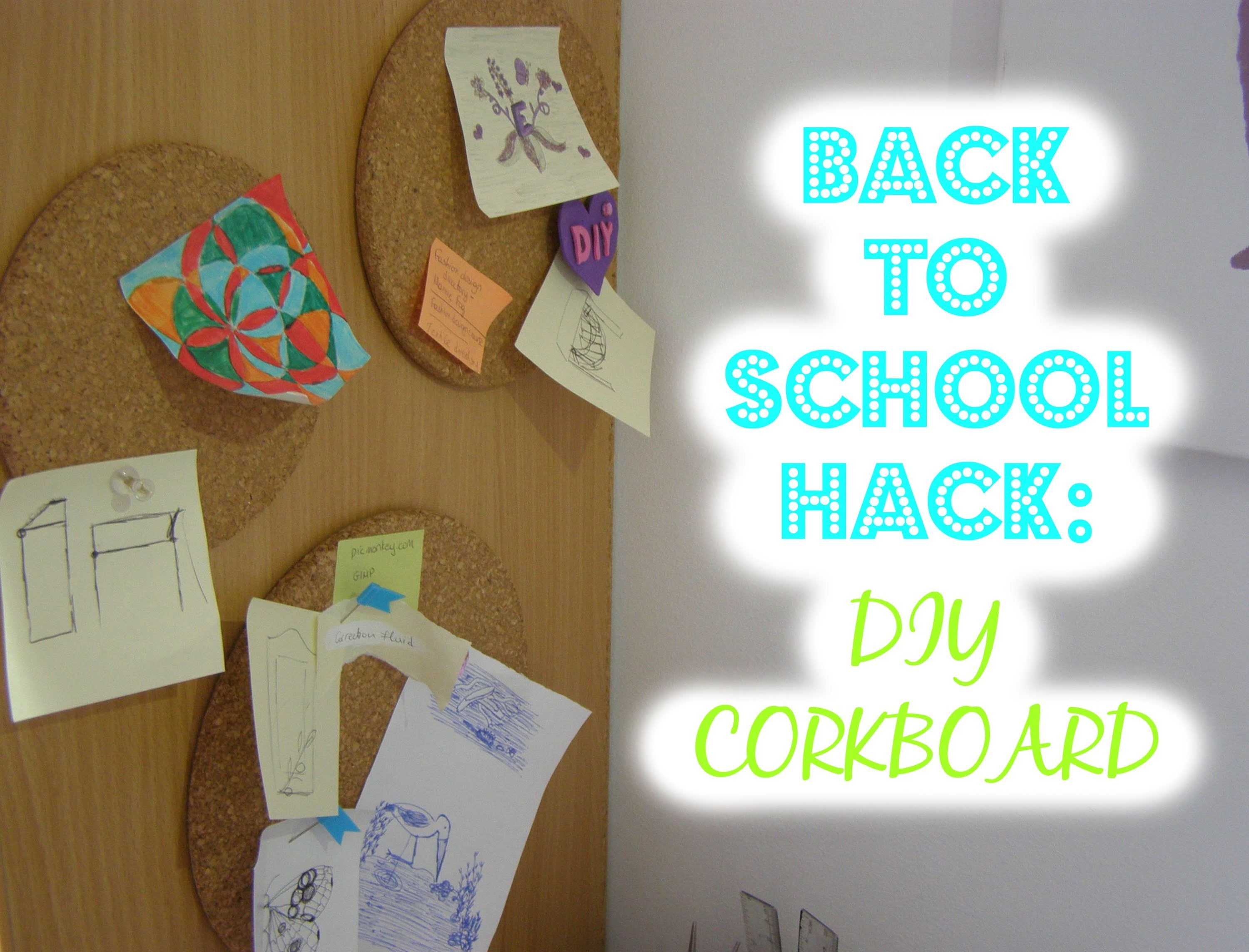 Back to school hack: DIY corkboard
